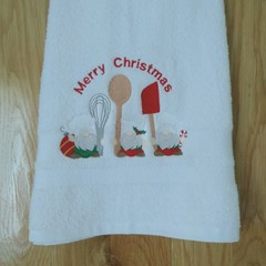 Christmas Embroidered Hand towels