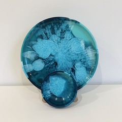 Round Resin Plate and Bowl Set