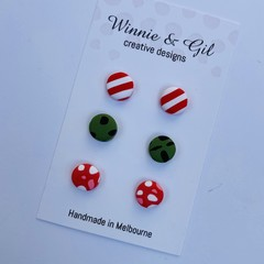 Three pack mini Christmas  studs