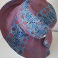 Dreaming Wide Brim Fabric Hat