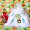 "Christmas plush yeti artist bear, Special Edition ""Mistletoe"""