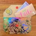 Coin Purse - Cork Rainbow Splatter