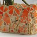 Oranges and lemons vase in mosaic