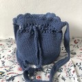 Scallop Handbag |  Dark blue | Recycled Cotton