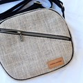 Hessian crossbody bag