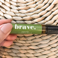 Brave Roller ball Essential Oil - Personalised scented roller ball w/ peppermint
