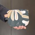 Modern navy wattle coin purse pouch for women and teens