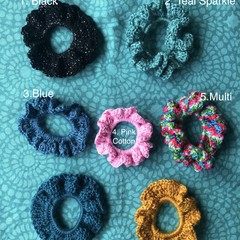 VARIOUS | Crochet Hair Scrunchies | Acrylic & Cotton Yarn