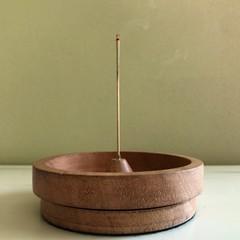 Straight sided, dish incense burner.
