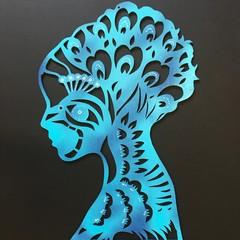 """Woman"" woodcut"