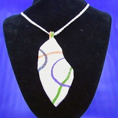This gorgeous  pendant in non toxic polymer clay.