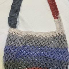 Crocheted stripy market bag