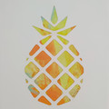 """Punchy Pineapple"" original hand painted acrylic silhouette artwork"