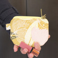 Yellow mustard coin purse pouch