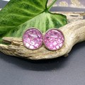 Dragon Scale Studs - dyed snake shed (multiple colour options available)