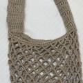 Oatmeal crocheted market bag