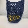 Blue Crocheted Market Bag