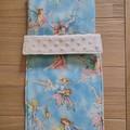 Dolls bedding, pram or cradle bedding, quilt pillow set, fairies