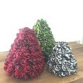 CHRISTMAS Trees - Set of 3 - Crocheted - Home decor, Christmas decor, Christmas