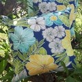 HIBISCUS  OUTDOOR CUSHION COVER/50CM X 50CM
