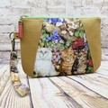 Garden Cats Zip Pouch/Clutch