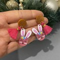 Festive Bunny Dangles (Various Colours)