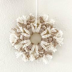 Macrame Christmas snowflake decoration - size 2