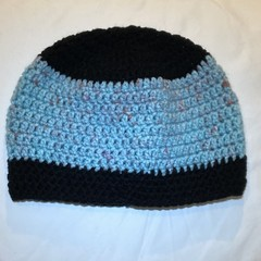 Blue and Black childs beanie