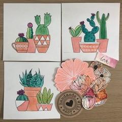 Cactus fun! 3 minis for artlovers