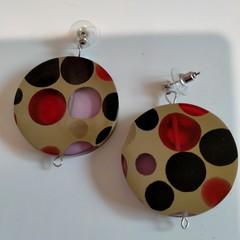 Large Round Resin Earrings
