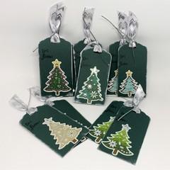 Christmas Tree -Dark Green and Silver (10)