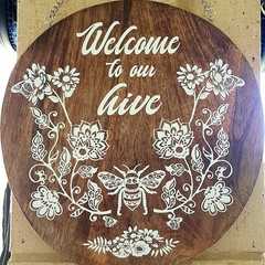 Wooden wall hanging / cheese board