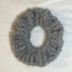 light grey scrunchie