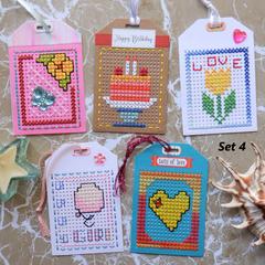 Cross Stitch Gift Tags Sets