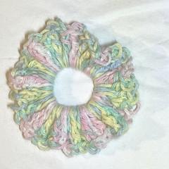 Pastel scrunchie