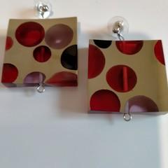 Large Square Resin Earrings