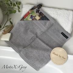 """""""MOTO X"""" Grey        BATH WASHERS // MINI HAND TOWEL"""