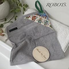 """""""ROBOTS""""  BATH WASHERS // MINI HAND TOWEL"""
