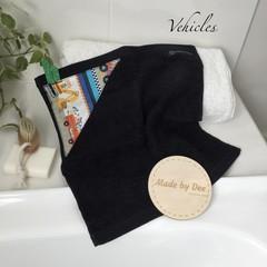 """""""VEHICLES""""                 BATH WASHERS // MINI HAND TOWEL"""
