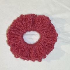 Dark pink scrunchie
