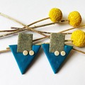 Blue Arrow Studs