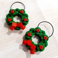 DECORATIONS - Green & Red Brick Wreath Decorations