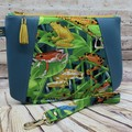 Colourful Frogs Zip Pouch/Clutch
