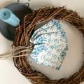 Set of 5 Gift Tags - Christmas - Aqua Florals