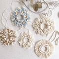 Macrame Christmas snowflake decoration - size 1