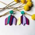Purple Rainbow Tulip  - Large Dangles