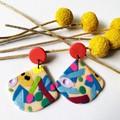 Chaos medium drop  earrings