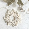 Macrame Christmas snowflake decoration - size 1