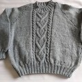 HAND KNITTED GREY SWEATER  5 years