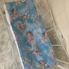 Dolls bedding, pram or cradle bedding, quilt pillow set, fairies